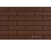 Фасадная плитка Cerrad Brown 24,5x6,5 коричневая гладкая