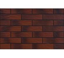 Фасадная плитка Cerrad Burgund 24,5x6,5 рустикальная с оттенком