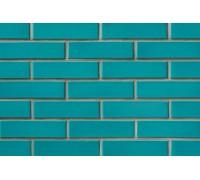 Глазурованный зелено-голубой кирпич СБК керамический