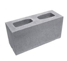 Серый заборный блок гладкий Силта-Брик