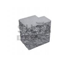 Серый заборный полублок декоративный Силта-Брик