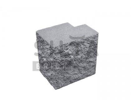 Заборный полублок декоративный серый Силта Брик
